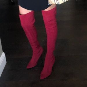 Thigh High Red Sock Boots